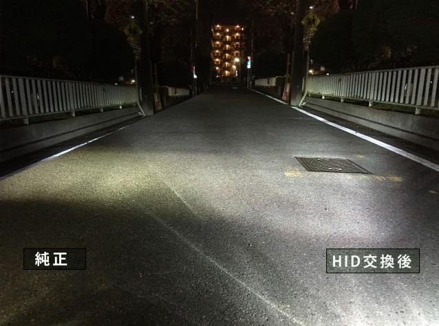 HIDと純正LED FOG4