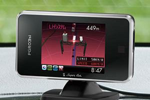 2.4インチフルカラーELディスプレイ搭載ダウンロード対応GPS&レーダー探知機「PGR03si」