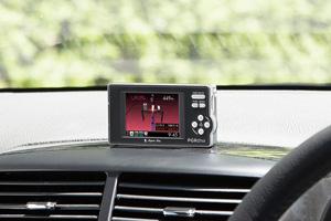 2.4インチフルカラーIPS液晶ディスプレイ搭載ダウンロード対応GPS&レーダー探知機「PGR01si」(ダッシュボード直付け)
