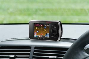 2.0インチフルカラーELディスプレイ搭載ダウンロード対応GPS&レーダー探知機「R550si」(ダッシュボード直付け)