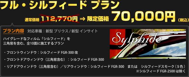 フル・シルフィード プラン キャンペーン特価 70,000円(税込)