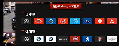 機能ボタン:自動車メーカーで見る 展開時