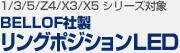 【BMW 1/3/5/Z4/X3/X5 シリーズ 対象】BELLOF社製 リングポジションLED