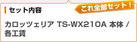 (セット内容)カロッツェリア ウーファー TS-WX210A 本体